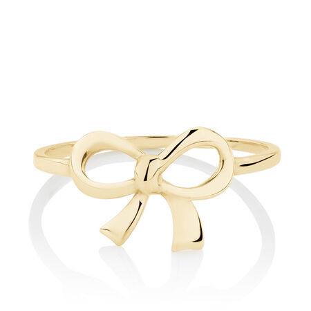 Bow Ring in 10ct Yellow Gold