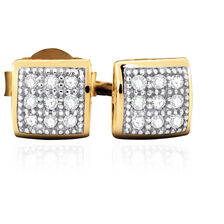 Stud Earrings with Diamonds in 10ct Yellow Gold