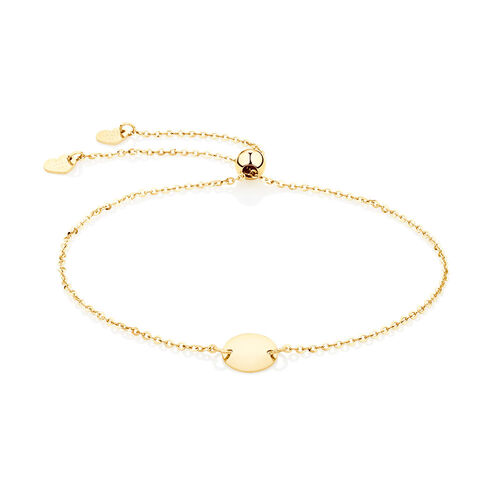 Adjustable Circle Bracelet in 10ct Yellow Gold