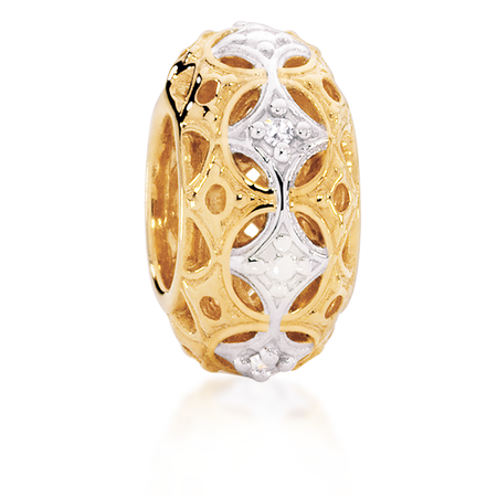 Diamond Set & 10ct Yellow Gold Charm