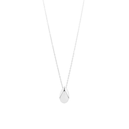 Teardrop Pendant in Sterling Silver
