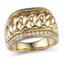 Ring with 0.59 Carat TW of Diamonds in 10ct Yellow Gold