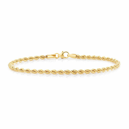 Rope Bracelet in 10ct Yellow Gold