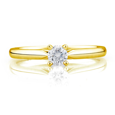 Solitaire Engagement Ring with a 1/4 Carat Diamond in 14ct Yellow & White Gold