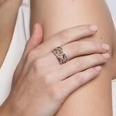 Infinitas Ring with 1/4 Carat TW of Diamonds in 10ct Rose Gold & Sterling Silver