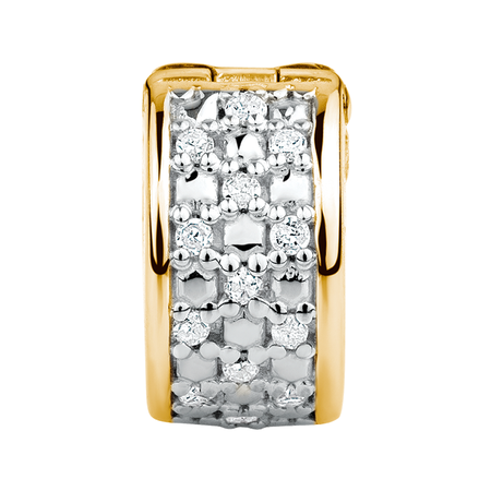 Diamond Set & 10ct Yellow Gold Stopper