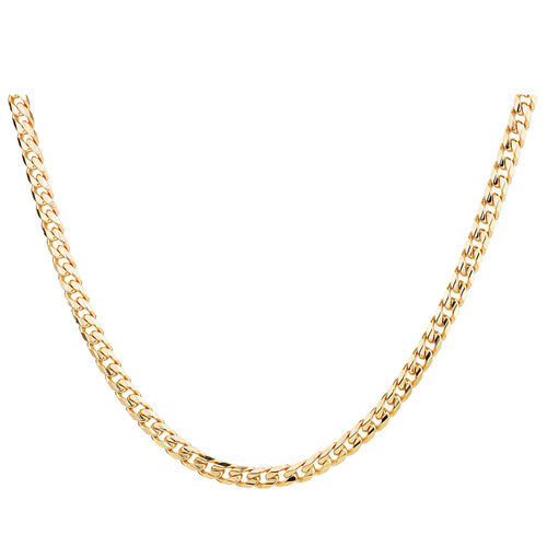 """55cm (22"""") Men's Curb Chain in 10ct Yellow Gold"""