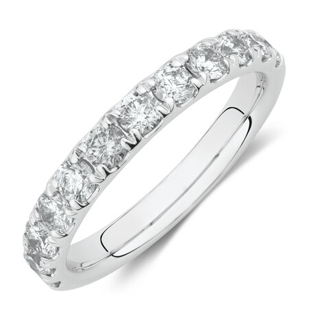 Evermore Wedding Band with 1 Carat TW Diamonds in 14ct White Gold