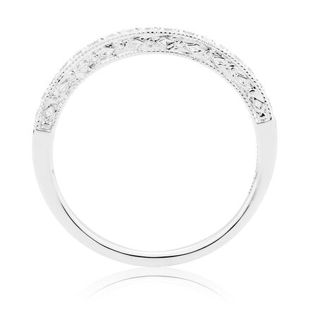 Wedding Band with 0.22 Carat TW of Diamonds in 14ct White Gold
