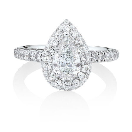 Michael Hill Designer GrandAllegro Engagement Ring with 2.08 Carat TW of Diamonds in 14ct White & Rose Gold