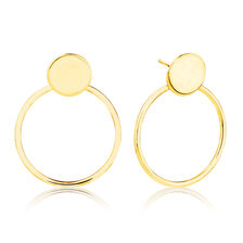 Geometric Drop Earrings in 10ct Yellow Gold