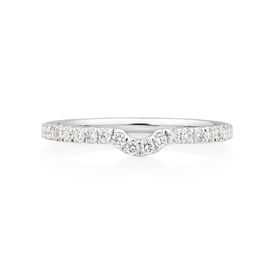 Sir Michael Hill Designer Wedding Band with 0.28 Carat TW of Diamonds in 18ct White Gold