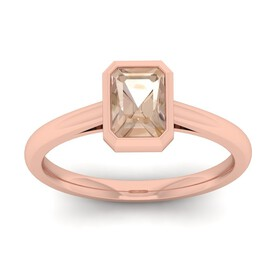 Ring with Morganite in 10ct Rose Gold