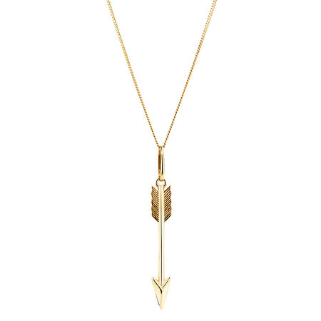 Arrow Pendant in 10ct Yellow Gold