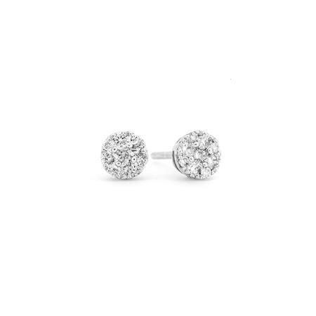 Diamond Stud Earrings with 0.28 Carat TW of Diamonds in 10ct White Gold