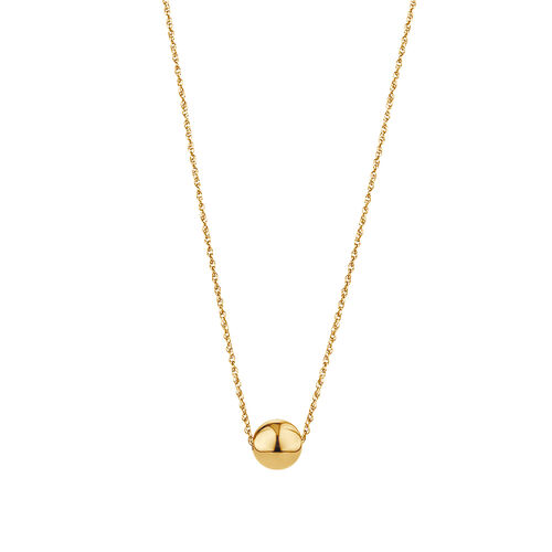"45cm (18"") 8mm Ball Necklace in 10ct Yellow Gold"