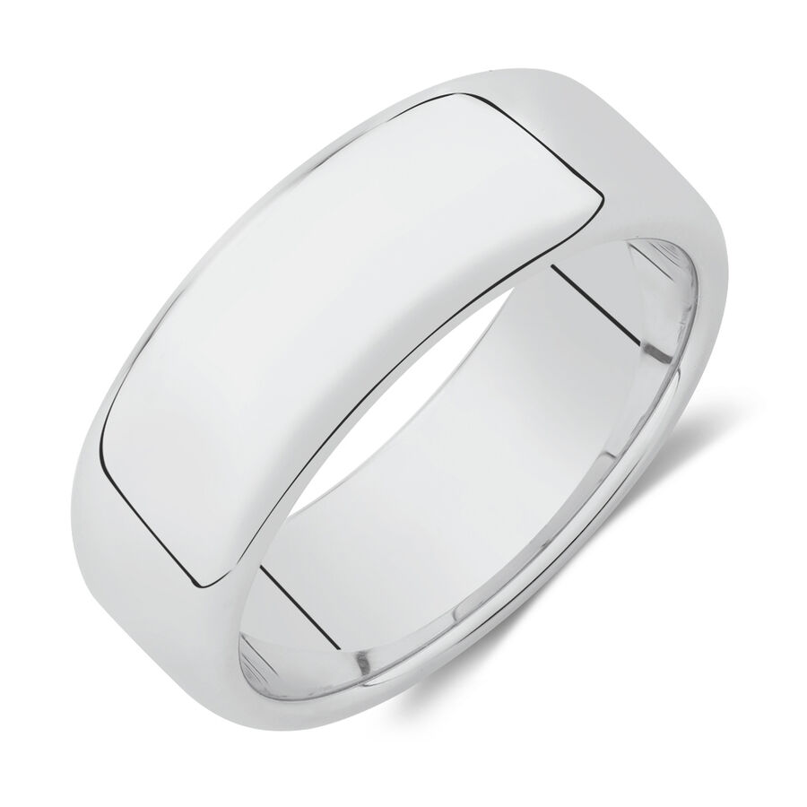 8mm Round Edge Ring in Sterling Silver