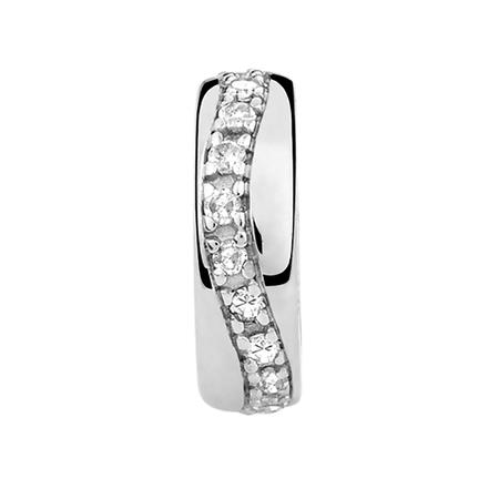 Diamond Set Swirl Spacer