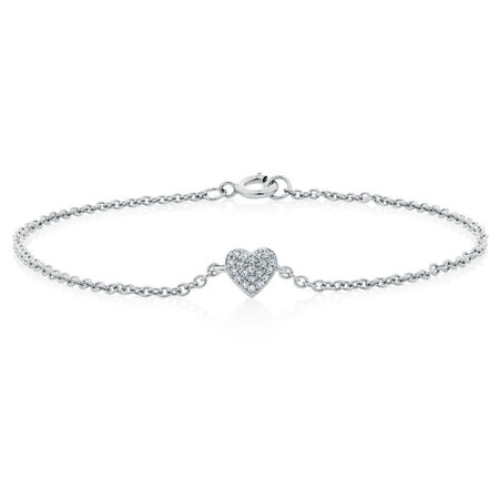 Bracelet with Diamonds in Sterling Silver