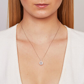 Everlight Pendant with 1/2 Carat TW of Diamonds in 14ct White Gold