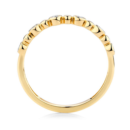 Bubble Ring with 0.12 Carat TW of Diamonds in 10ct Yellow Gold