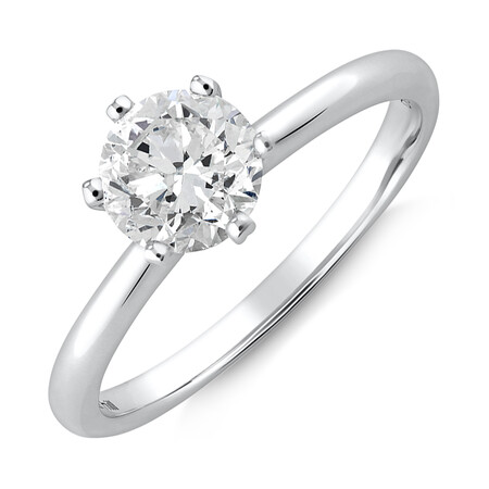 Michael Hill Solitaire Engagement Ring with a 1 Carat TW Diamond with the De Beers Code of Origin in Platinum