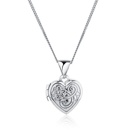 Heart Locket in Sterling Silver