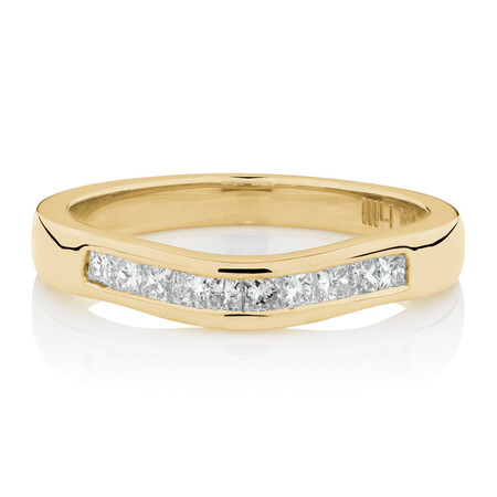 Online Exclusive -  Ring with 0.25 Carat TW of Diamonds in 18ct Yellow Gold