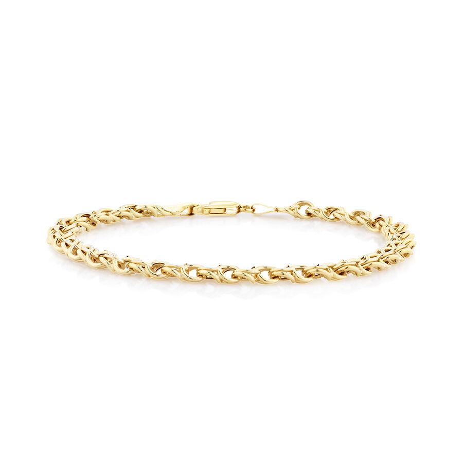 Fancy Double Link Bracelet in 10ct Yellow Gold