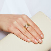 Olive Leaf Ring in 10ct Yellow Gold