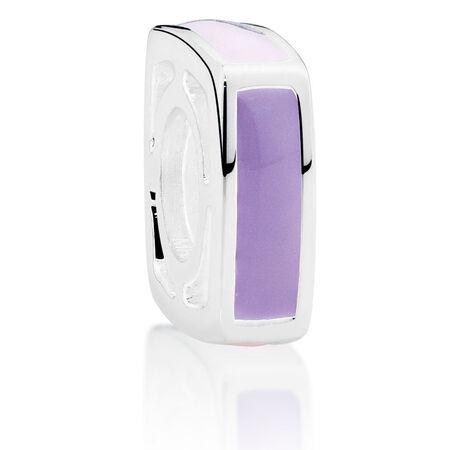 Purple & Pink Square Enamel Charm