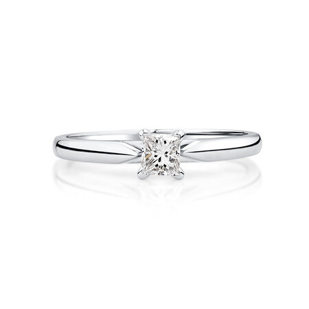 Evermore Solitaire Engagement Ring with a 1/4 Carat Diamond in 14ct White Gold