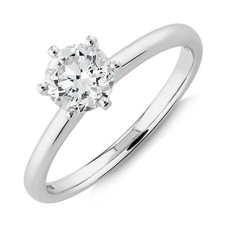 Michael Hill Solitaire Engagement Ring with a 0.70 Carat TW Diamond with the De Beers Code of Origin in Platinum