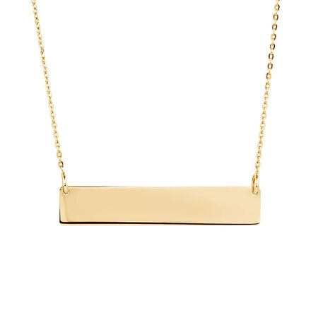 Bar Necklace in 10ct Yellow GoldBar Necklace in 10ct Yellow Gold