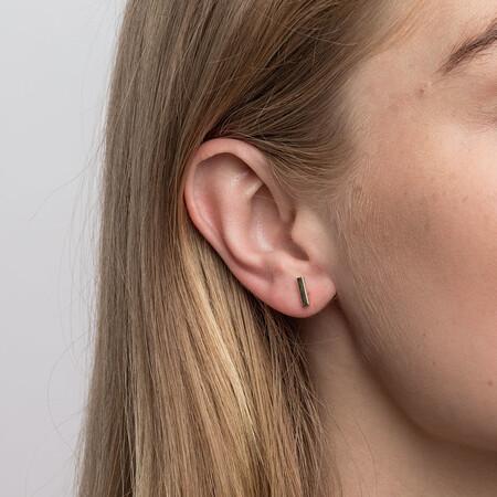 Bar Stud Earrings in 10ct Yellow Gold