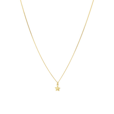 Star Pendant in 10ct Yellow Gold
