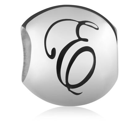 Sterling Silver 'E' Charm