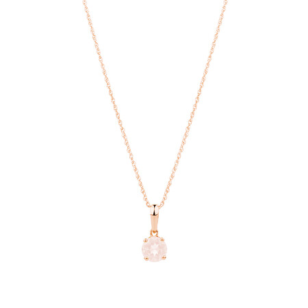Pendant with Morganite in 10ct Rose Gold