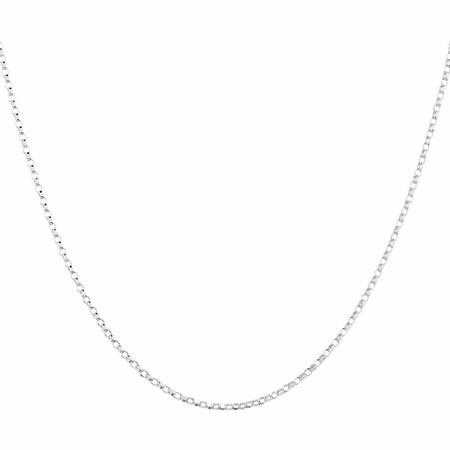 """45cm (18"""") Hollow Belcher Chain in 10ct White Gold"""