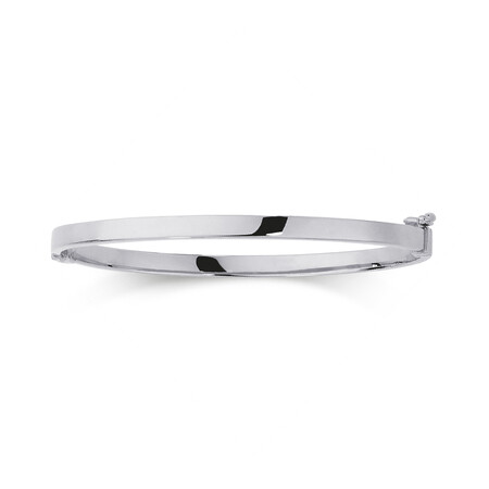 Hinged Bangle in 10ct White Gold