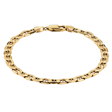 """19cm (7.5"""") Anchor Bracelet in 10ct Yellow Gold"""