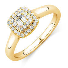 Online Exclusive - Engagement Ring with 0.29 Carat TW of Diamonds in 10ct Yellow Gold
