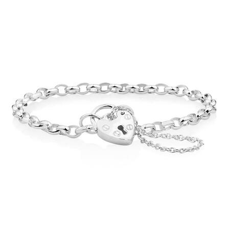 """14cm (6"""") Baby Belcher Bracelet in Sterling Silver"""