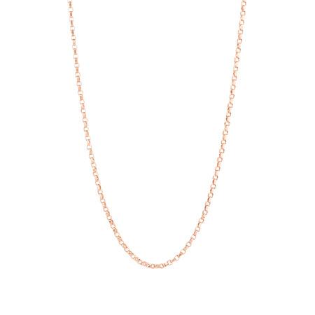"40cm (16"") Belcher Chain in 10ct Rose Gold"