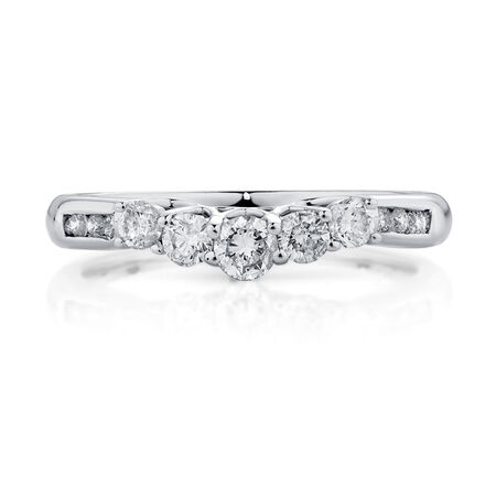 Evermore Wedding Band with 1/2 Carat TW of Diamonds in 18ct White Gold