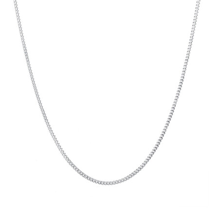"""40cm (16"""") Curb Chain in Sterling Silver"""