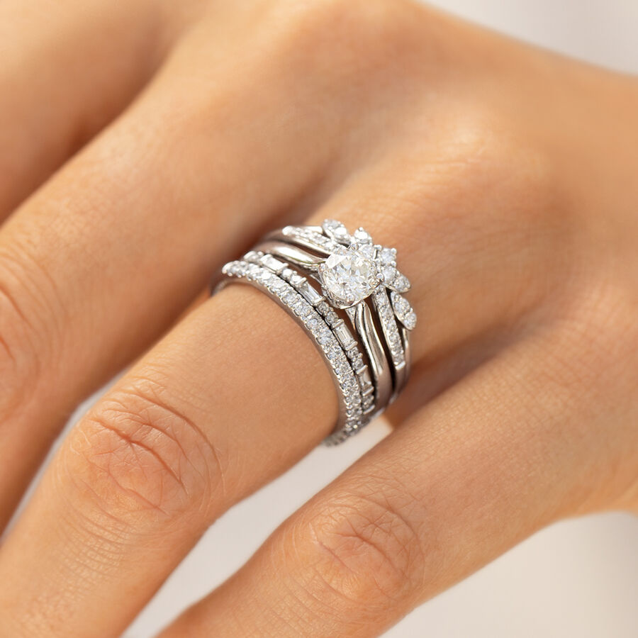 Wedding Band with 0.23 Carat TW of Diamonds in 10ct White Gold