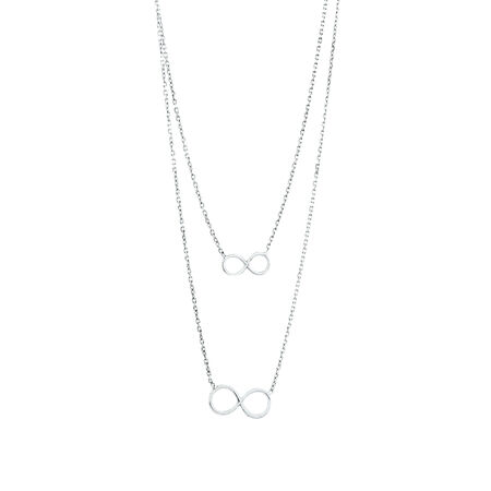 Double Infinity Chain in Sterling Silver