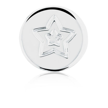 Follow Your Own Star' Coin Locket Insert in Sterling Silver