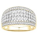 Ring with 0.90 Carat TW of Diamonds in 10ct Yellow Gold